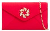 Girly HandBags Brooch Clutch Bag