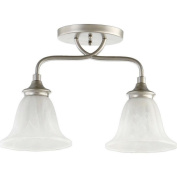 Quorum Randolph 2 Light Bowl Semi-Flush Mount in Classic Nickel