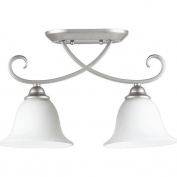 Quorum Celesta 2 Light Bowl Semi-Flush Mount in Classic Nickel