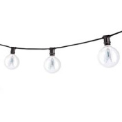 Replacement for STRING15/E12/BLACK-G16KT STRING15/E12/BLACK-G16KT OUTDOOR MINI STRING LIGHT W/INCANDESCENT G16 GLOBE BULBS, 7.6m, 15 LIGHTS SOCKETS, BLACK replacement light bulb lamp