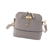 New Women Crossbody Shoulder Bags, Fashion Ladies Girls Messenger Bags Vintage Small Shell Leather Handbag Casual Bag