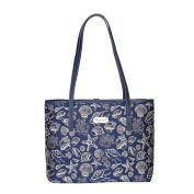 Sea Shell Shoulder Tote Bag by Signare   Women's Fashion Unique Fabric Beach College Shoulder Tote   33x27x15 cm  