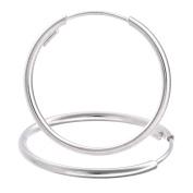 Citerna Women's 9 ct White Gold Sleeper Hoop Earrings