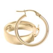 Citerna Women's 9 ct Rose Gold 15 mm Domed Hoop Earrings