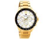 Tommy Hilfiger 51791121 Luke Gold Plated Chronograph Bracelet Watch Quartz Men