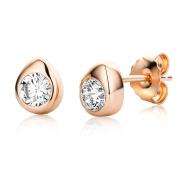 Miore Women 925 Sterling Silver Cubic Zirconia Stud Earrings MSAE197E