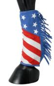Tough-1 Sport Boot Covers w/ Fringe Patriotic