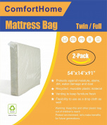 ComfortHome Mattress Bag For Moving and Storage, Twin/Full Size, Waterproof, Dust Proof, Bed Bug Proof, Pack of Two