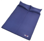 e-Joy Double 2- person Self-Inflating Camping Sleeping Mat/pad, Water Repellent Coating, with Attached Inflatable Pillow
