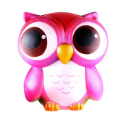 Soft Toys For Kids - Lovely Pink Owl Cream Scented Squishy Slow Rising Squeeze Toys Collection 15cm Birthday Party Favours