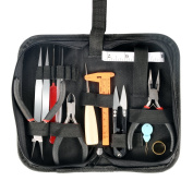 Jewellery Tools, Jewellery Making Supply Kit for DIY, Crafting, Beading, Earrings, Necklaces, with Zipper Storage Case