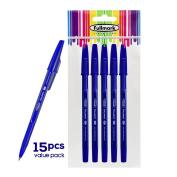 Fullmark NEW Ballpoint Pen, Fine Point 0.7mm, Blue15pcs