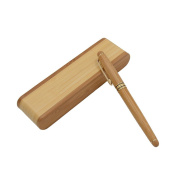 Ongwish Hand Crafted Wooden Fountain Pens Fine Nib with Bamboo Fountain Pen Case Perfect for Gifts