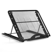 Ventilated Metal-mesh Adjustable Stand for Tracing pad /Laptop/ Tablet/Notebook, Foldable and Durable Design