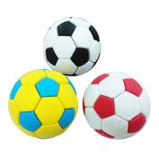 ZHOUBA 3Pcs Football Soccer Rubber Eraser Creative Stationery School Supplies Gift Kids