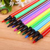12 Colours Watercolour Brush Tip Pen Set Kids Art Watercolour Marker Pens Painting Water Soluble Pencils