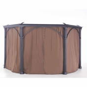 Sunjoy Universal Brown Privacy Curtain for Hexagon Gazebo - 90.5L x 80.7W in.