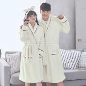 ZLR Autumn And Winter Season Adult Long-sleeved Pyjamas Home Clothes Couple Thickening Warm Bathrobe
