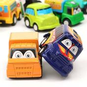 Bazaar 6Pcs Mini Small Classic Toddlers Boy Girl Truck Vehicle Kids Children Pullback Models Car Truck Vehicle Toys