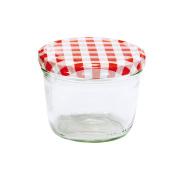 Glass Jars Jam Jars 230ml kariert Preserving Jar/Lid