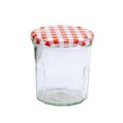 Glass Jars Jam Jar 324ml kariert Preserving Jar/Lid
