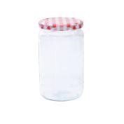 Glass Jars Jam Jars 720ml kariert Preserving Jar/Lid