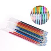 48pcs Gel Pens Gel Refills Rollerball Pastel Neon Glitter Pen Drawing Colours