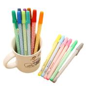 12 Pcs 0.5mm Lovely Shining Rainbow Colour Ballpoint Office School Writing Ball Pen