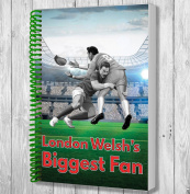 London Welsh's Biggest Fan A5 Rugby Notebook / Notepad / Drawing Pad