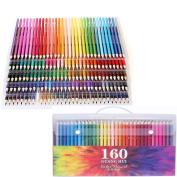 E-More 160 Coloured Pencils Colouring Pencils Set Assorted Colours Pre-Sharpened Art Colour Drawing Pencils for Adult Colouring Books Drawing Writing Sketching Doodling