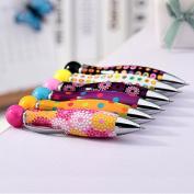DaoRier 1Pc Bowling Shape Ball Pen Cute Point Pen Stationery for School Office
