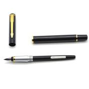 Nacpy Fountain Pen Medium Piston Converter Filler Fountain Pen Business Gift Pen Black