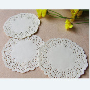 "100 Pcs 3.5""=88 mm White Round Lace Paper Doilies Vintage Coasters Placemat Craft Wedding Christmas Table Decoration"
