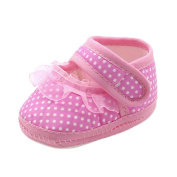 Saihui Baby Dot Lace Shoes, Newborn Infant Baby Girls Warm Soft Sole Prewalker Casual Flats Shoes