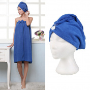 Hongch Quick Fast Dry Microfiber Towel Wrap Hat Cap Hair Magic Drying Soft Bathing Spa Turban