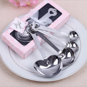 SMILEQ 4PCS Measuring Spoons Stainless Steel Tool Wedding Party Souvenirs Gift