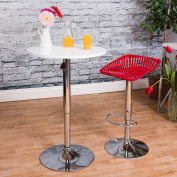Vogue Furniture Direct Adjustable Square Tractor Seat Barstool, Red VF1581007