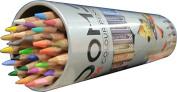 Doms 24 Colour Pencils 3.3mm Premium Quality - (Silver, Gold, Neon Green, Neon Orange Shade Free Inside) - Soft Wood Hexagonal Colour Pencils
