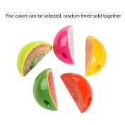 3Pcs Mini Fruit Pencil Sharpener Cute School Office Supplies - Random Pattern