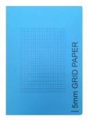 Artway A4 5mm Grid / Graph Paper Book - Pack of 3