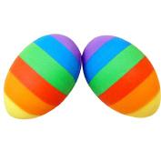 ZHOUBA 2Pcs Multicolor Cute Stone Egg Shape Soft Rubber Pencil Erasers Stationery Supplies