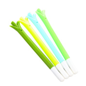 TIREOW 12 Pcs Cartoon CuteSilicone Green Onions Design Gel Pens Cute Creative Stationery and Office Supplies(Random Colours ) 2017