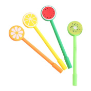 4PCS Pen Cute Fruit Pens Creative Stationery Student Gift Party Supplies Writing