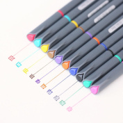10 Pcs Watercolour Fine Line Pen Painting Tool Brush Art Supplies 0.38mm Set