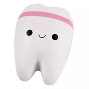 Elistelle Kawaii Tooth Squishy Slow Rising Stress Toy Cute Creative Smiley Toy