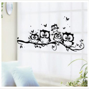 LnLyin Owl Station on Tree Wall Stickers Room Decal Home Decoration Mural