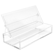 Clear Acrylic Marker / Pen / Photo Storage Box With Built-in Frame to Display 2 Prints - For Kodak Mini Instant Printer Picture Projects