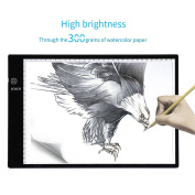 ICOCO A4 Tracing Light Box, Ultra Thin Stepless Adjustable Brightness Micro USB Power Input Stepless Dimming Memory Function Tracing Light Box