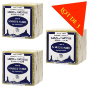 Lot of 3 soaps Marius Fabre Cube of Pure Marseilles Soap (600G, Green (Olive Oil)) …