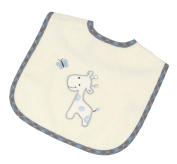 Be Be's Collection 917 12 Hook and loop Bibs Baby Giraffe Blue 30 x 40